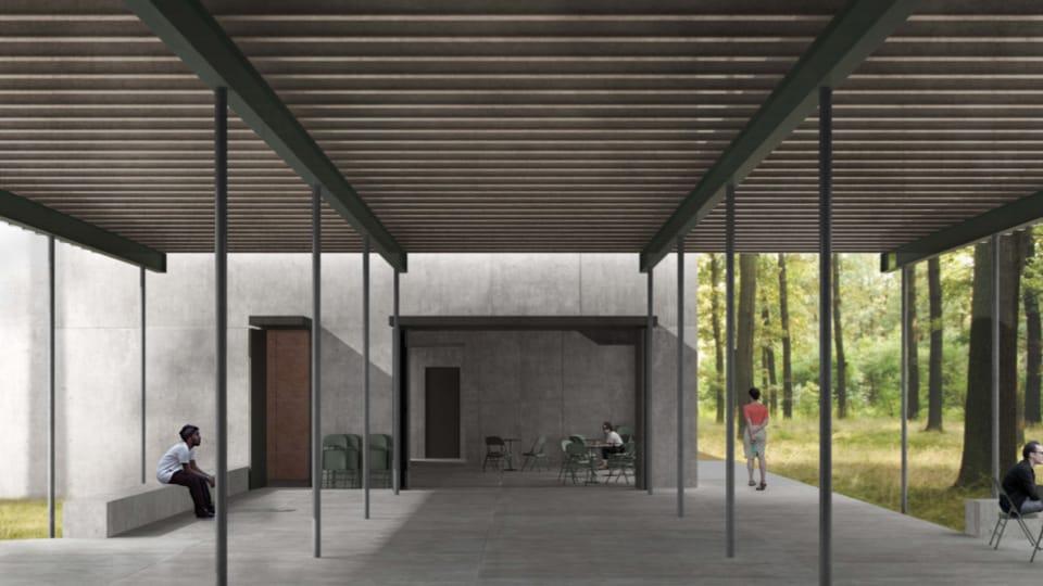 La visualisation du futur mémorial de Lety,  source: Atelier Terra Florida/Atelier Světlík