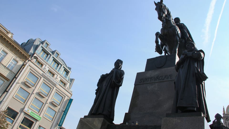 Monument en l'honneur de saint Venceslas sur la place Venceslas,  par Josef Václav Myslbek,  photo: Barbora Němcová