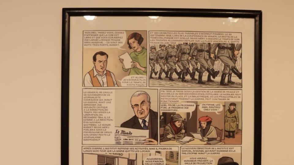 L'exposition L'Institut se souvient | Photo: Marion Floch,  Radio Prague Int.