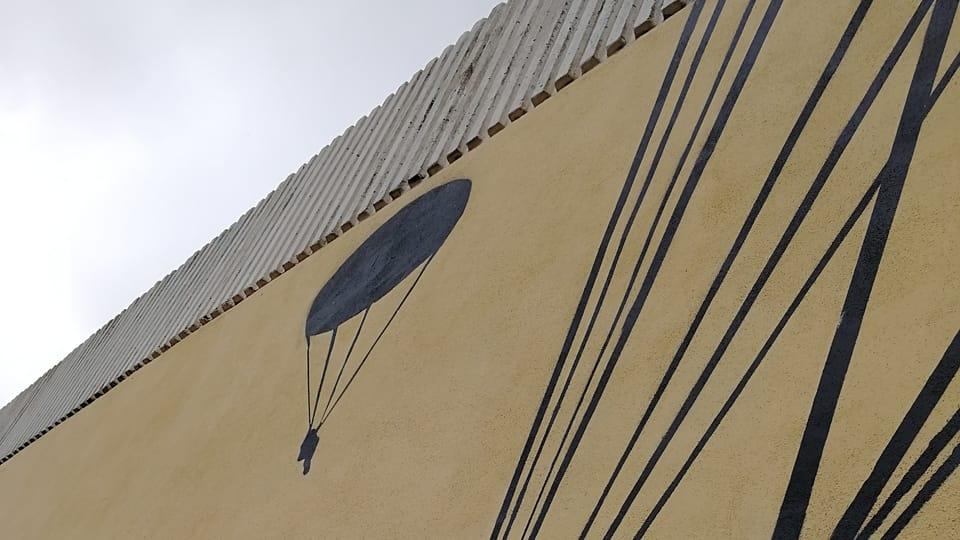 La grande peinture murale retraçant l'épopée de l'opération Anthropoid | Photo: Štěpánka Budková,  Radio Prague Int.