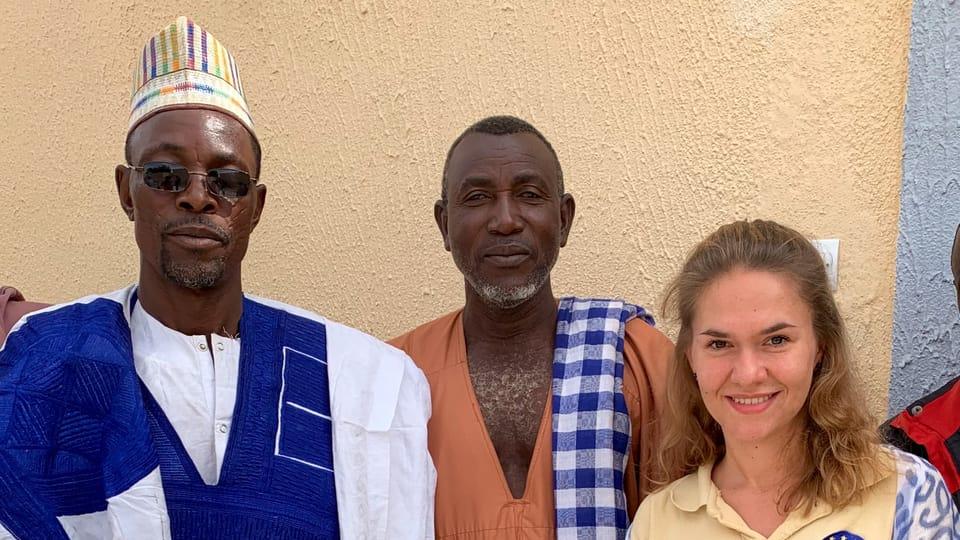Klára Vraštilová au Niger,  photo: Archives de Klára Vraštilová au Congo