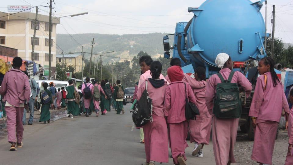 Les écoliers à Addis Abeba