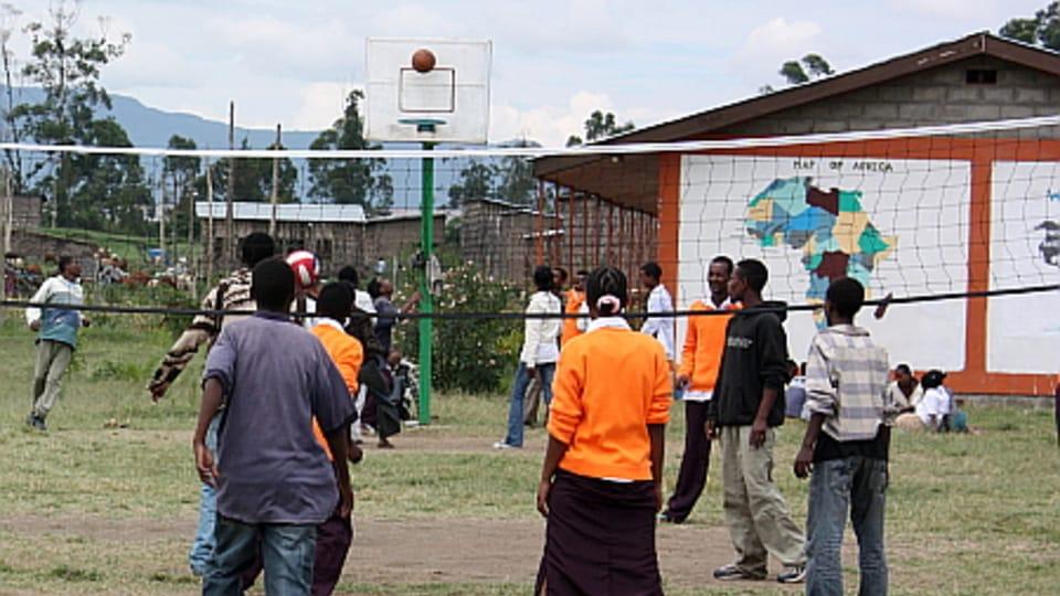 L'école secondaire à Awassa...