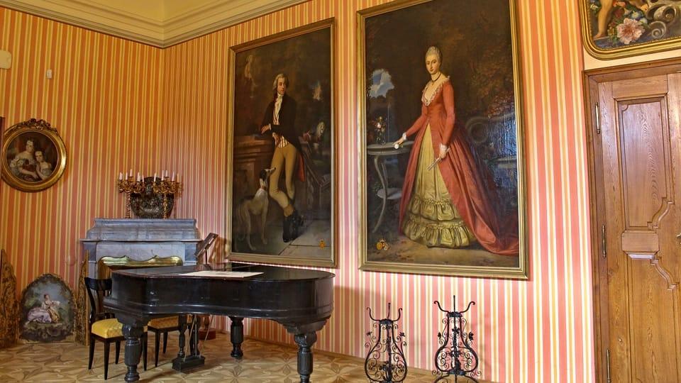Les tableaux de Josef Mánes au château de Čechy pod Kosířem,  photo: Aleš Spurný,  ČRo