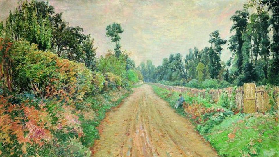Chemin à Giverny et Monet,  1894