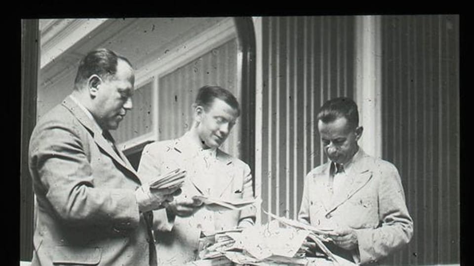 Josef Laufer  (à droite),  Coupe du monde de football en Italie,  1934 | Photo: e-Sbírky,  Musée national,  CC BY 4.0