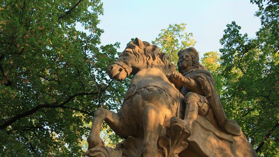 Il s'agit d'une des trois représentations de saint Venceslas à Prague que l'on doit au sculpteur Jan Jiří Bendl,  photo: Barbora Němcová