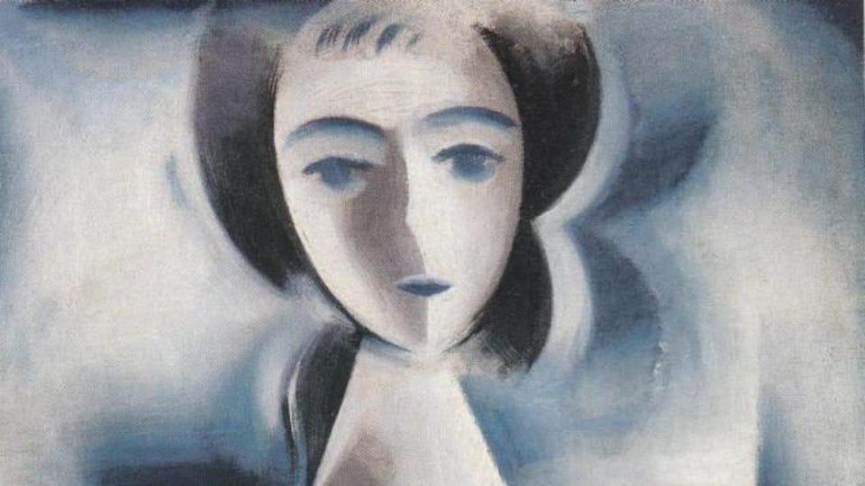 Josef Čapek,  'La fille avec la marguerite',  1914,  source: public domain