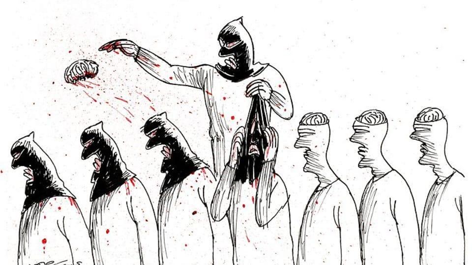 La caricature d'Abdul Raheem Yassir,  photo : DOX