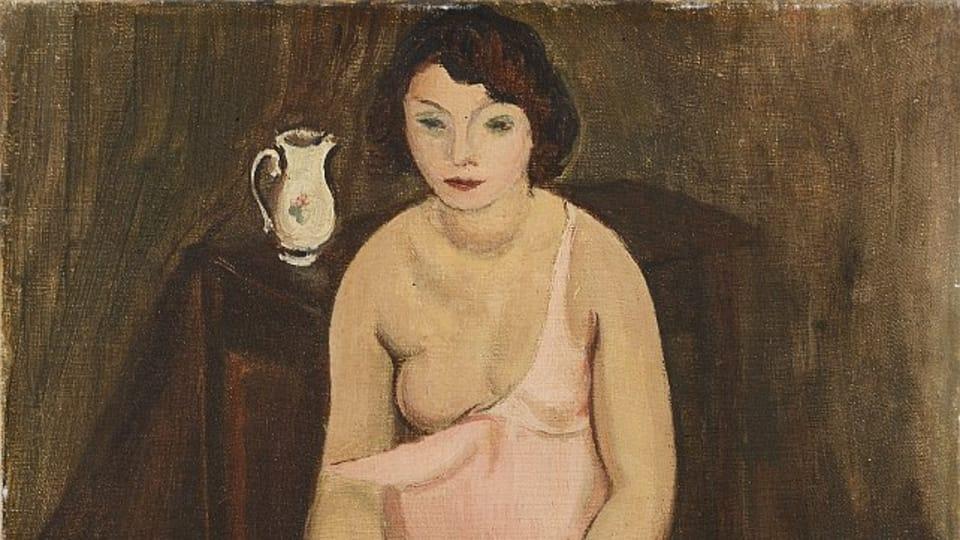 Georges Kars,  'Jeune femme aux bas jaunes',  1923 / Centre tchèque de Paris
