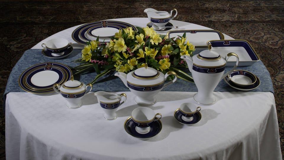 Le service de table actuel,  photo: Collection du Château de Prague,  Château de Lány,  Jan Gloc