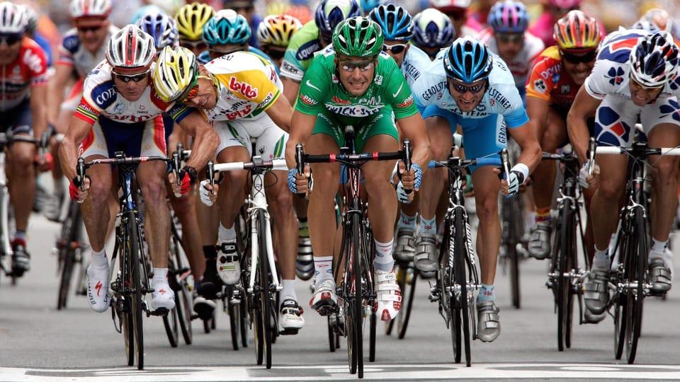 Robbie McEwen et Tom Boonen,  Tour de France 2005,  photo: Markéta Navrátilová