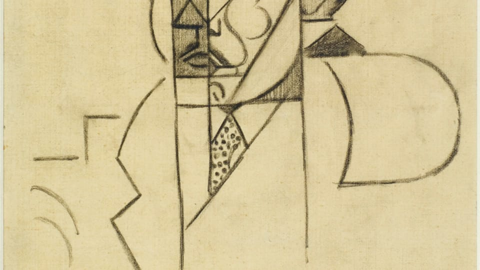 Jean Metzinger,  'Albert Gleizes - étude du portrait,  1911,  photo: Centre Pompidou - Musée national d'art moderne,  Paris