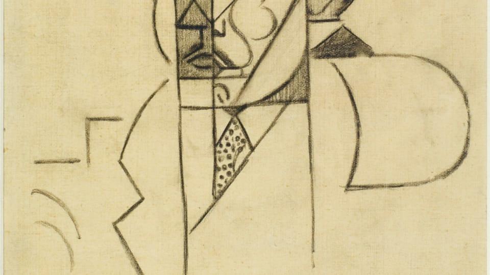 Jean Metzinger,  'Albert Gleizes - étude du portrait,  1911,  photo: Centre Pompidou - Musée national d'art moderne,  Paris