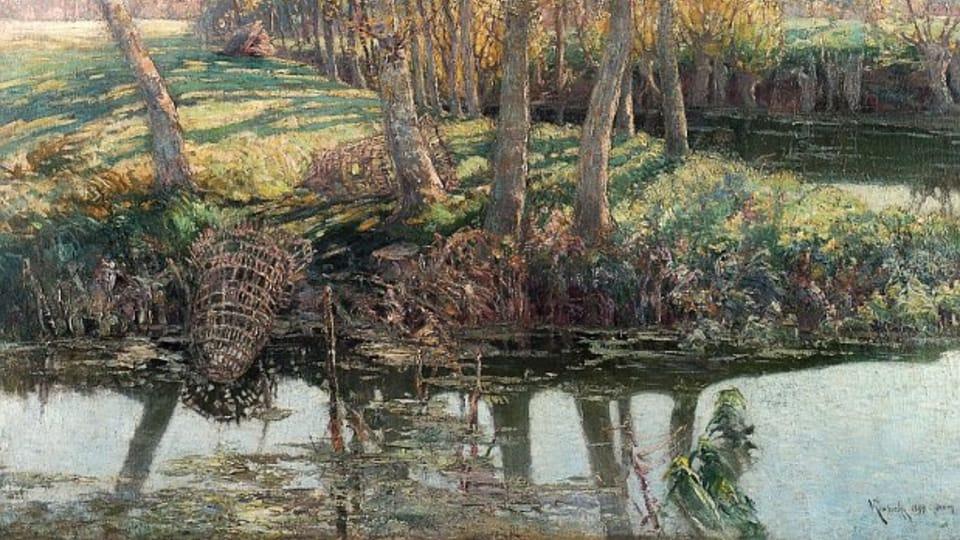 Sur la rivière Eptel,  1897