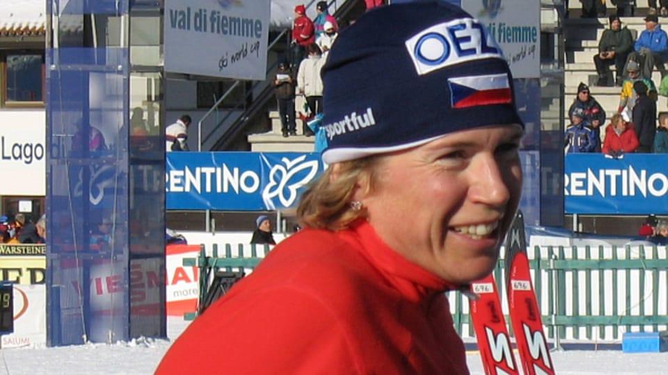 La championne tchèque de ski de fond,  Katerina Neumannova