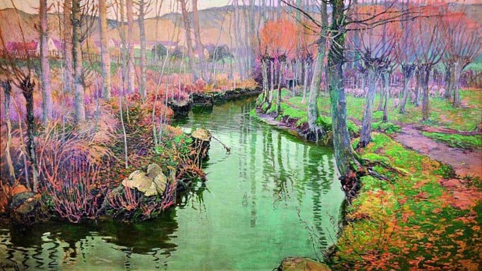 Pacage et un ruisseau à Giverny,  1899