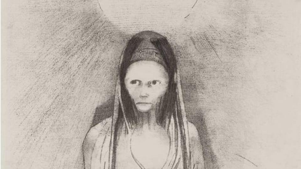 Odilon Redon,  'L'intelligence fut à moi ! Je devins le Bouddha...,  1895 / Galerie nationale