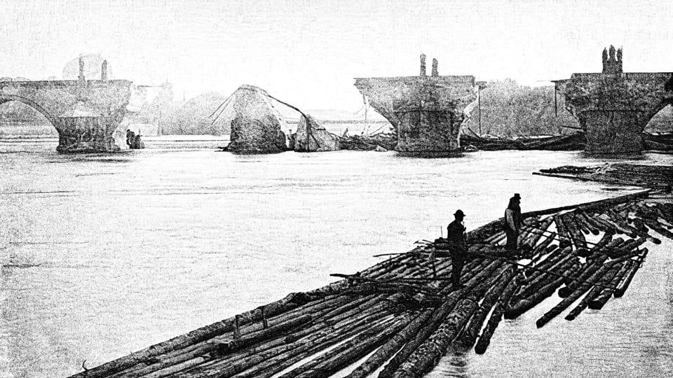 L'inondation en 1890,  photo: public domain