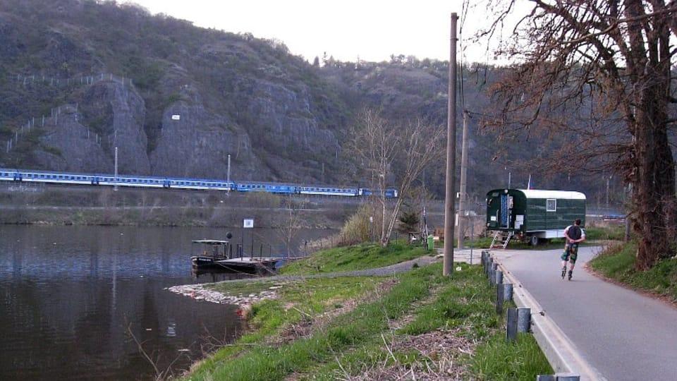 Vue sur le 'přívoz' de Zámky-Sedlec,  photo: Denisa Tomanová