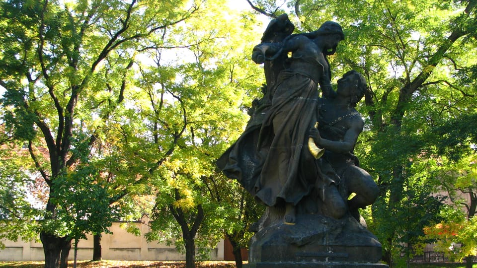 Les statues de Ctirad et Šárka,  photo: Štěpánka Budková