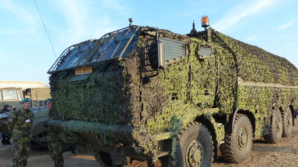 Le véhicule militaire TATRA et son camouflage,  photo: Klára Stejskalová