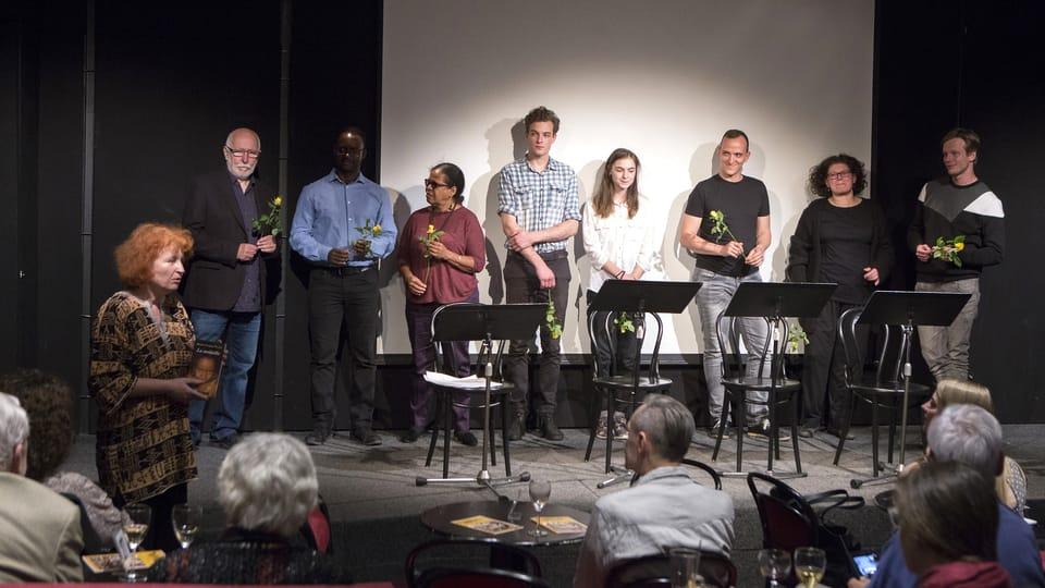 Les auteurs avec les comédiens,  photo: Irena Vodáková