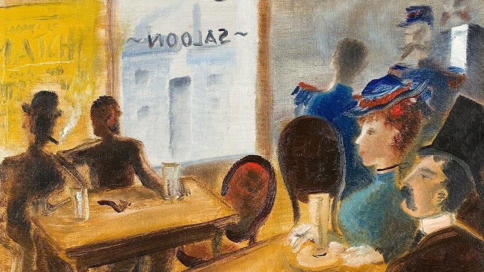 'Au saloon américain en 1885',  1938,  photo: Retro Gallery