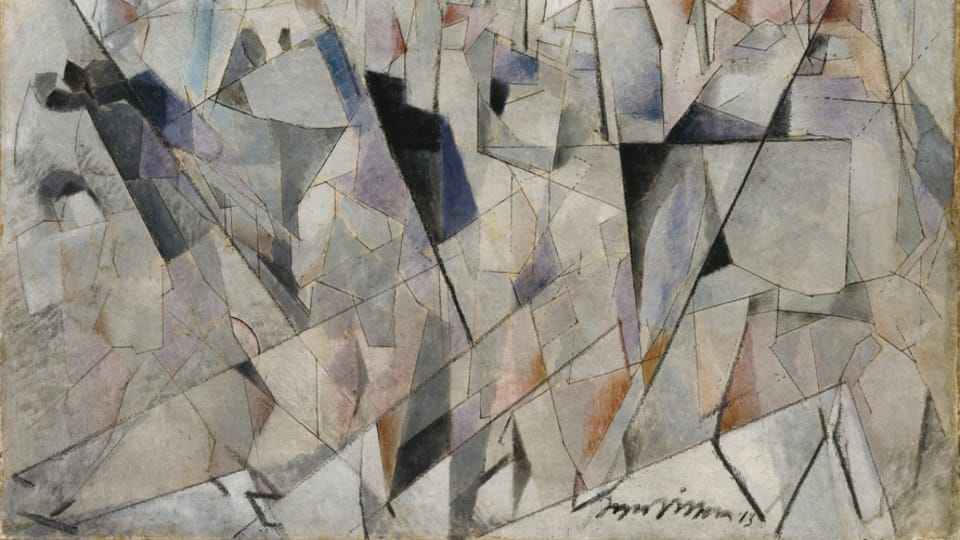 Jacques Villon,  'Les soldats en marche' 1913,  photo: Centre Pompidou - Musée national d'art moderne,  Paris