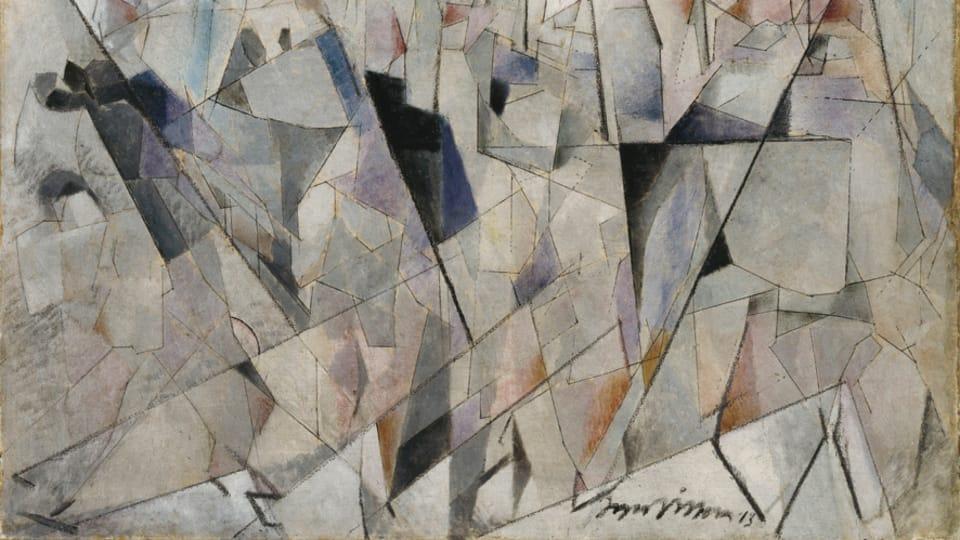 Jacques Villon,  'Les soldats en marche' 1913,  photo: Centre Pompidou - Musée national d'art moderne,  Paris