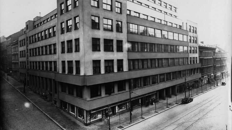 Le bâtiment principal de la Radio tchèque à Prague,  sur l'avenue Vinohradská. Photo: APF ČRo