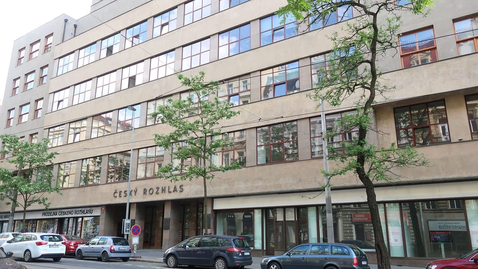 Le bâtiment principal de la Radio tchèque à Prague,  sur l'avenue Vinohradská. Photo: Lenka Žižková