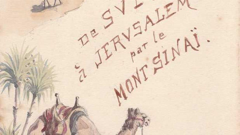 Le dessin d'une expédition étudiante avec la participation de Alois Musil,  photo: Břetislav Tureček / Archives de l'Ecole biblique de Jérusalem
