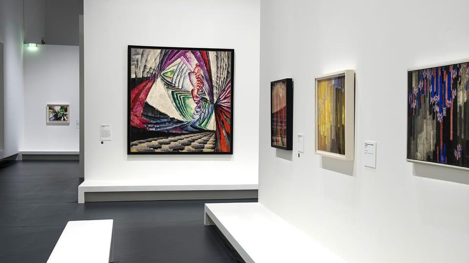 Vue de l'exposition Kupka,  Pionnier de l'abstraction,  photo: Didier Plowy