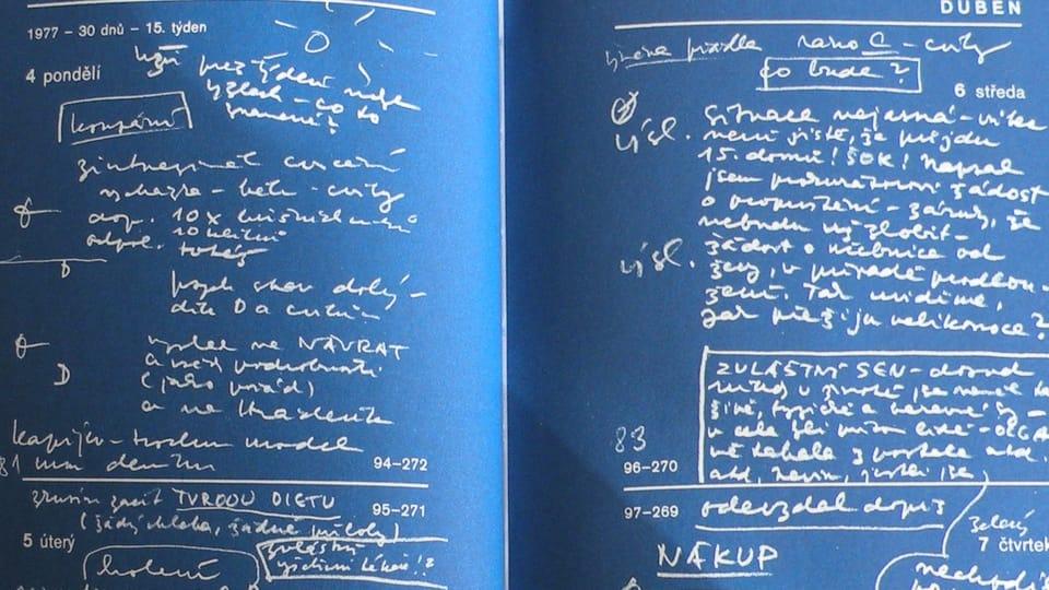 Photo: repro Václav Havel,  Zápisky obviněného,  Diář Václava Havla 1977 / Knihovna Václava Havla